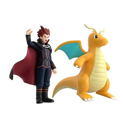 txyang Pokemon Scale World Lance Dragonite Figura De Anime Modelo Juguetes Colección De Muñecas Caja De Cumpleaños para Niños Regalo
