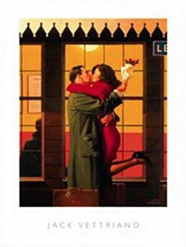 1art1 Jack Vettriano - Back Where You Belong I Poster Kunstdruck 50 x 40 cm