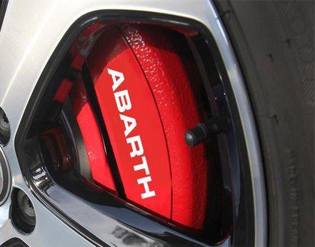 FIAT ABARTH HI -4 x Bremsenaufkleber Bremsen Aufkleber Bremssattel HitzebeständigDECALS STICKERS CAST VINYL 500 500C