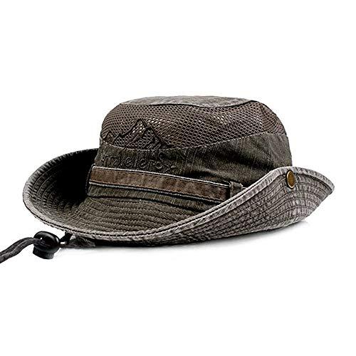 Supreme Glory - Cappello da sole da uomo, estivo, protezione dai raggi UV, per escursionismo, pesca, trekking, outdoor verde oliva Taglia unica