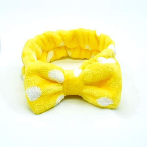 C-Y 5 pcs SPA Diadema Facial Make Up Wrap Head Terry Paño Diadema Toalla Máscara Facial de Ducha de Lavado Facial Bandas de Pelo de Lana de Coral,A,5 PCS