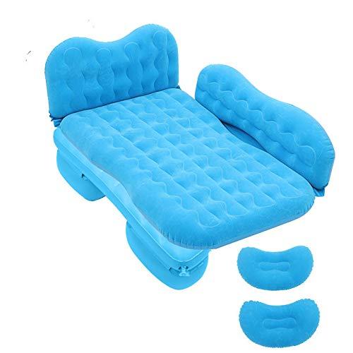 Ssrsgyp Coche De Colchón Inflable para Coche Cama Trasera De PVC De Coche Adecuado para Viajes Camping Al Aire Libre SUV Van Van Cama De Aire Universal(Color:Azul)
