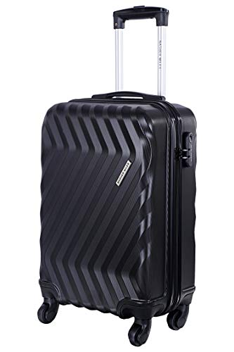 Nasher Miles Lombard 20 Inch ,Cabin, Hard-Sided, Polycarbonate Luggage, Black 55cm Trolley Bag