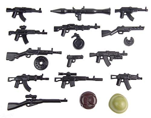 BrickArms Ruso Set de Armas V2, Battlepack Custom Armas para Figuras de Lego®