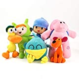 JKYP Pocoyo Plush Toys Elly, Pato, Fred, Loula and Sleepy Bird Cartoon Plush Animals Plush Toys Cute Children's Doll Gift (6pcs)