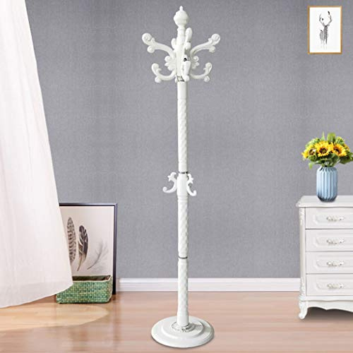 CKH - Perchero de pared para dormitorio o sala de estar, diseño de palabras para colgar ropa, resistente y de metal (color: blanco)