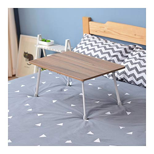 Mobile Lap Table Mobile Folding Table, Bay Window Small Desk, With Handle, Flexible And Lightweight, For Home And Office (Color : Pale oak color, Size : Style A)