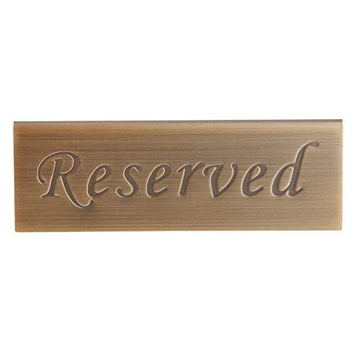 Raybre Art® Reserviertes Schild Empfang Hochzeit Tisch Sitzschilder Freistehendes Gold Messing