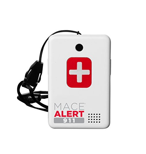 "Mace Brand Alert 911 One Touch Direct Connection Emergency Device, Calls 911 with 2-Way Voice, 2.5"" x 2"" x .75"" (80239)"