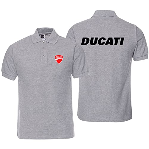 FXZFYYY Camiseta Polo De Solapa Ducati para Hombre, Camiseta De Manga Corta para Motocicleta, Camiseta De Ciclismo De Verano, Media Manga