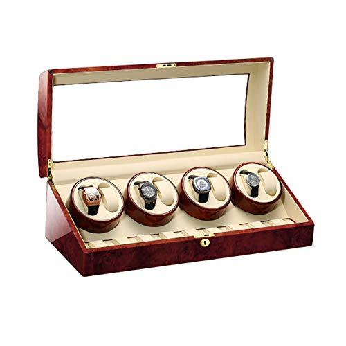 ZCXBHD Caja Giratoria para Relojes para 8 Relojes + 9 Posición de Almacenamiento para Reloj Mecánico 5 Programas de Rotación de Madera con Motor Silencioso (Color : B)