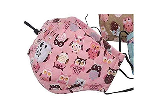 ROXX (Pink Kids) Kids Cotton Mask with Changeable Filter and Breathing Valves for Kids