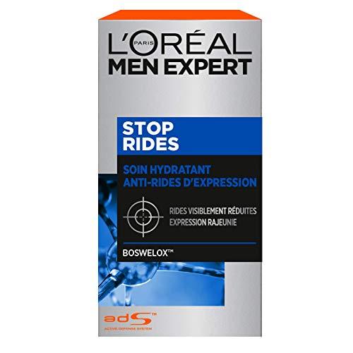 L Oréal Men Expert - Stop Rides - Soin Hydratant Anti-Age Visage - Homme - 50 ml