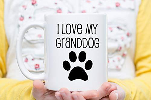 """Tasse mit Aufschrift """"I Love My Grand Dog"""", Geschenk für Großeltern, Geschenk für Hundeliebhaber, Geschenk für Großeltern"""