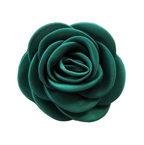 Cheerlife Ansteckblumen Brosche Krawatte Brosche Kamelie Boutonniere Haarclip Haarklipp Blumen Haarspange Grün