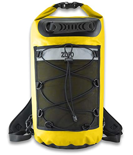 ZBRO Waterproof Dry Bag Backpack with Padded Straps and Mesh Pocket -...