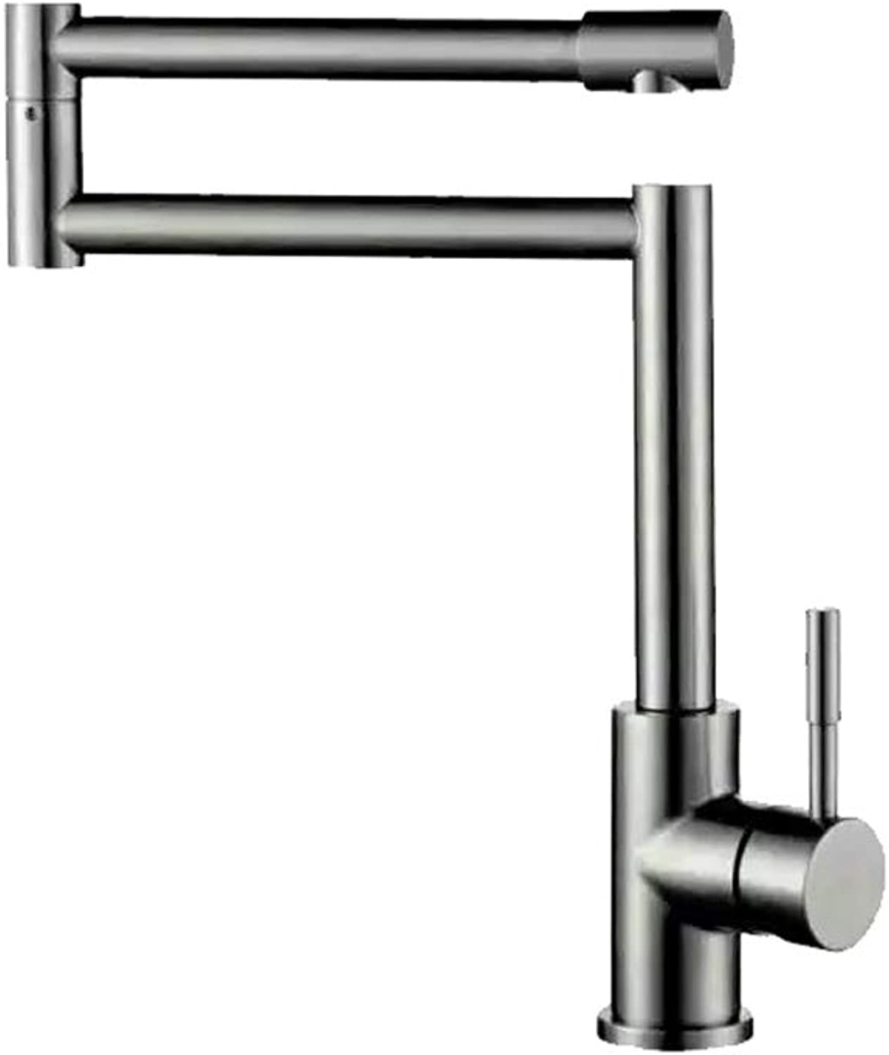 Faucet Kitchen Faucet Stainless Steel Faucet Bathroom Faucet Stainless Steel Kitchen Faucet Stainless Steel Sink Brushed High-bend redating Basin Faucet