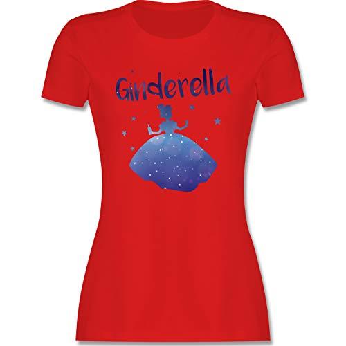 Typisch Frauen - Ginderella - M - Rot - Gin t-Shirt Damen - L191 - Tailliertes Tshirt für Damen und Frauen T-Shirt