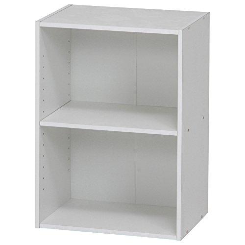 不二貿易(Fujiboeki) カラーボックス ホワイト 幅41.8×高さ59cm 可動棚 2段 98744