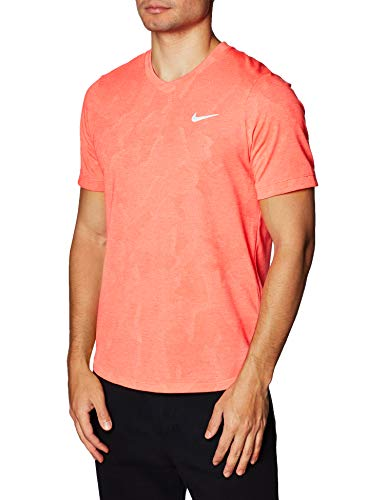 Nike Herren Nikecourt Dri-Fit Challenger Tennis-Trikot, Carmesi Laser/Blanco, XL