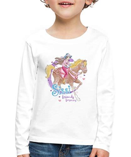 Sissi & Ihr Pferd Friends Forever Kinder Premium Langarmshirt, 134-140, Weiß
