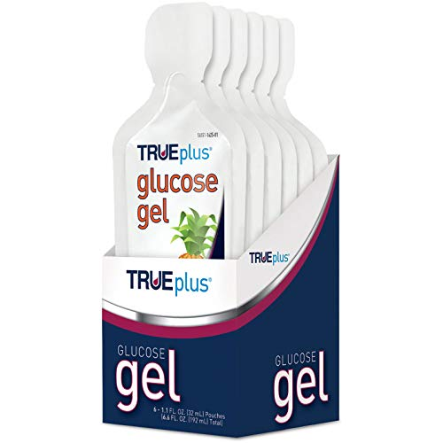 TRUEplus® Glucose Gel, Fruit Punch Flavor - Gel Pouch - 6 Pack