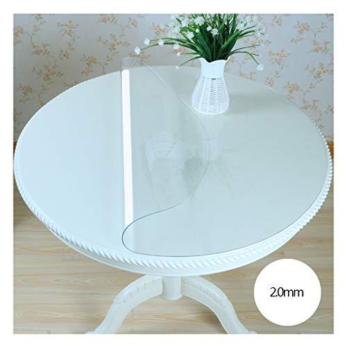 &Nappes Nappe Imperméable Transparente Ronde PVC nappe de table (Couleur : B, taille : Round-80cm)