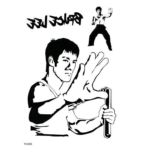 Kung Fu Bruce Lee Waterproof Temporary Tattoo Sticker On Body Art Tattoo Fake Tattoo Temporary Tatoo Sleeve