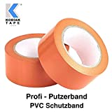 3 Rollen Putzerband 50mm x 33m Klebeband PVC Schutzband Putzband Abdeckklebeband Orange (EUR 0,0556 /m)