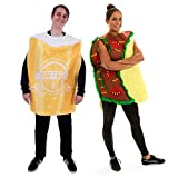 Taco & Beer Couple's Halloween Costumes - One-Size Adult Funny Food Outfits