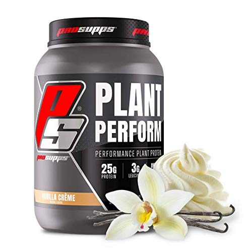 ProSupps Plant Perform, Best Tasting Performance Plant Protein, Vanilla Creme, 24 Servings. High in BCAAs, Fortified with Leucine. Contains NO Gluten or Soy