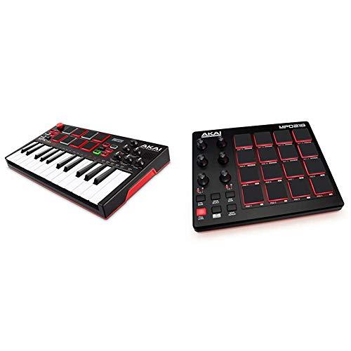 AKAI Professional MPK Mini Play – Standalone Mini Keyboard USB Controller mit eingebautem Lautsprecher, Pads im MPC-Stil & Portabler 16-Pad-USB/MIDI-Pad-Controller Mit MPC-Pads, zuweisbaren Reglern