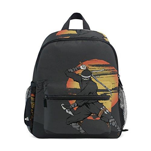 TIZORAX Japanese Ninja Lightweight Travel School Backpack for Boys Girls Kids