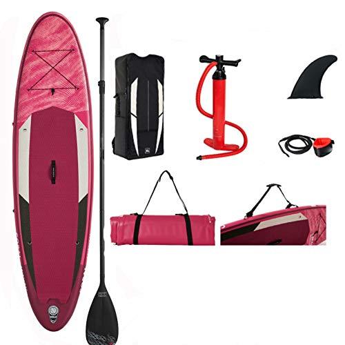 JRY Tablas de Paddle Surf hinchables - Tabla de Paddle Ultraligera Tabla de Surf Gruesa con Accesorios Sup Bolsa de Transporte, Kit de reparación, Pala de Carbono Ajustable