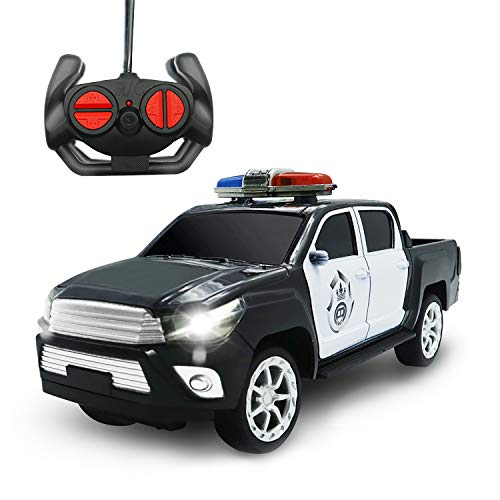 Remote Control Car 1:16 Toys for Boys Remote Control Police Car with Headlights for 3 Year Old Boys and Up - No Siren Sound and Flashing Lights