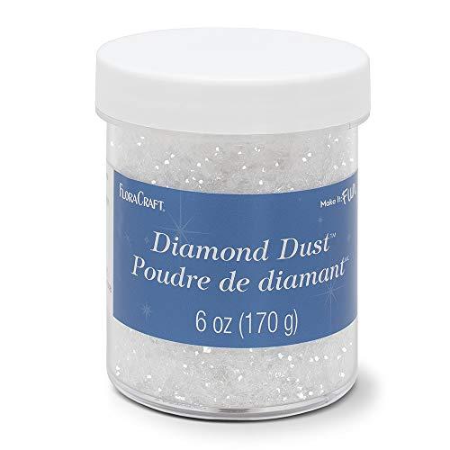 FloraCraft Diamond Dust Glitter 6 Ounce Clear Glass