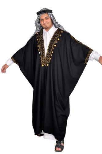 Egypt Bazar Kaftan-Umhang Einheitsgröße: S bis 5XL, schwarz