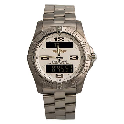 Breitling E79362 Reloj de cuarzo aeroespacial para hombre (certificado prepropietario)