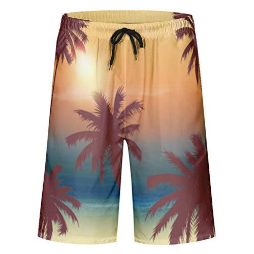Vrnceit neuartig lässig Herren-Badehose Trunks Beach Board Shorts Hawaii für Männer schnell trocknen mit Elastic Waistband Effect White 2XL