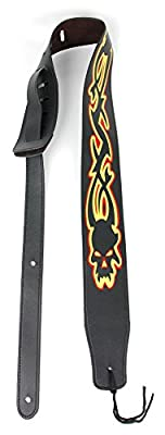 Tribal Skull PU Leather Guitar Strap