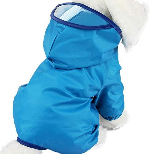 EQLEF® 1 pcs de Pet Raincoat, étanche Coat Puppy Dog Dog Poodle Pet Colorisation Raincoat Rainwear Vêtements Robe