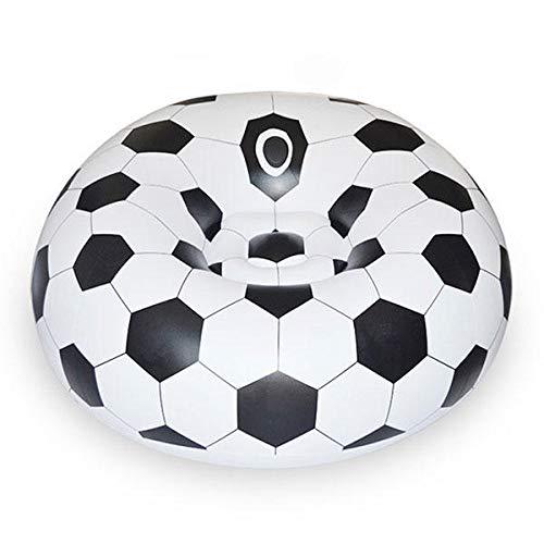 FEIYI Aufblasbares Sofa mit Fußball, Basketball, für die Freizeit, tragbar, Sitzsack, Outdoor- und Wohnzimmermöbel (Farbe: Fußball)