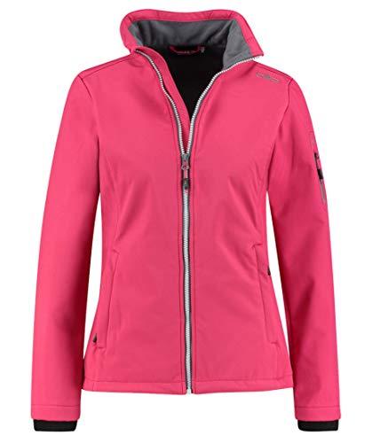 CMP – F.LLI Campagnolo Damen Softshell-Jacke mit ClimaProtect WP 7.000-Technologie Jacket, Rhodamine, D44