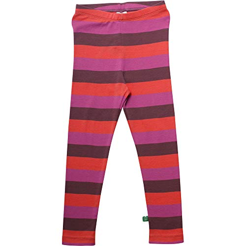 Fred'S World By Green Cotton Multi Stripe Leggings, Violet (Plum Purple 019231101), 74 Bébé Fille