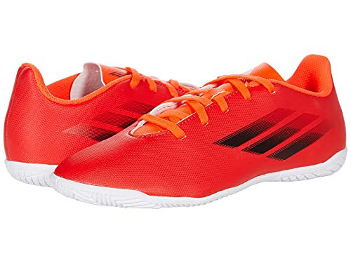 adidas X Speedflow.4 Indoor Soccer Shoe, Red/Black/Solar Red, 12.5 US Unisex Little Kid