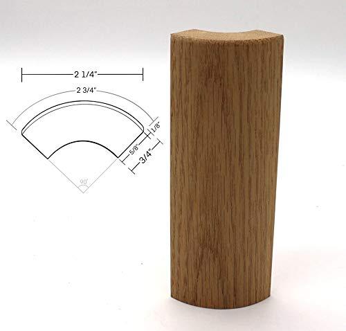 "3/4"" x 2 3/4"" x 6"" Oak Outside Radius Corner Base Block, Trim Molding (10)"
