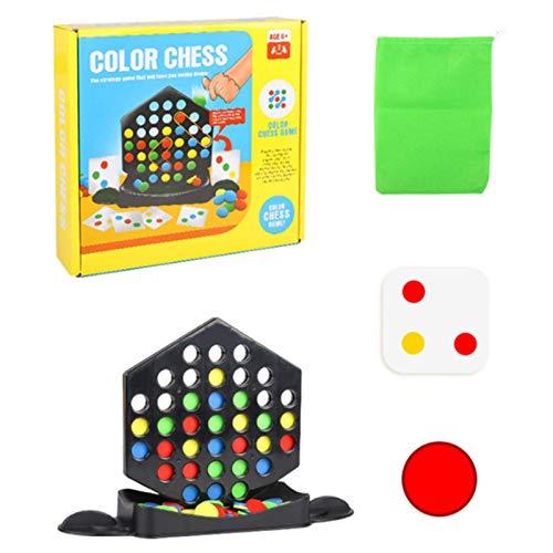 YWTT Rainbow Ball Matching Toy, Juego de Rompecabezas de ajedrez Colorido, Juguete de Escritorio de interacción con 72 Cuentas de Colores, para niños y niñas de 4 5 6 7 8 9 10+ años, Juegos de me
