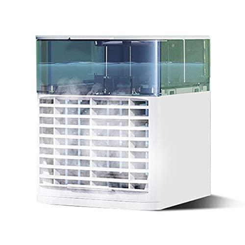Aire acondicionado portátil auxiliar Blast, enfriador de aire personal con 3 velocidades, mini aire acondicionado con USB, ventilador de escritorio con asa, humidificadores adecuados para