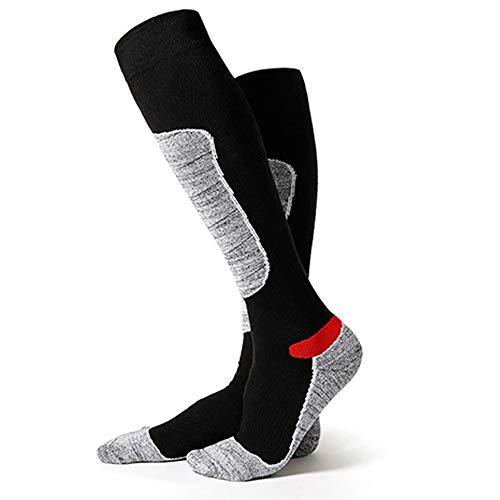 CHENSHJI ski-sokken voor heren en dames, outdoor sport, snowboard sokken, hoge elastische sneldrogende ademende skisokken, wolski-sokken