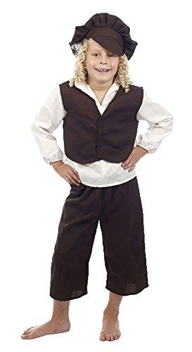 Islander Fashions Victoriaanse Jongen Oliver Twist Kostuum Kids Evacuee Jongen Boek Week Fancy Jurk Outfit S, M, L